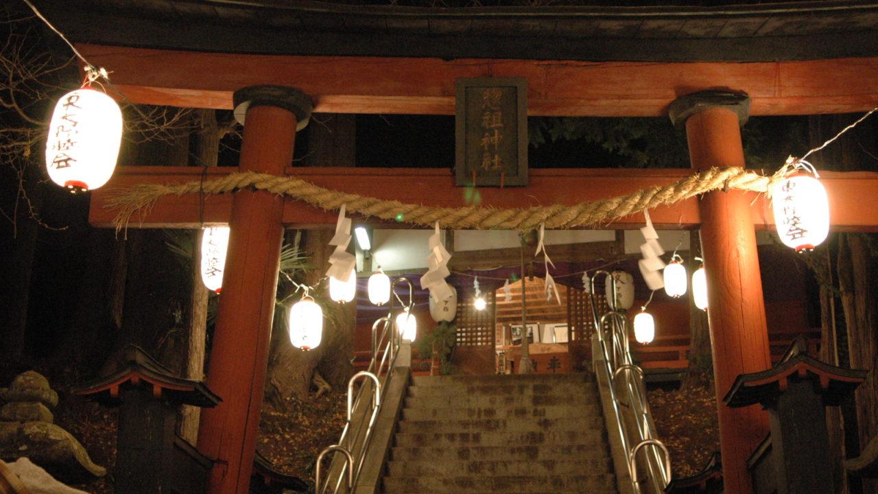 大晦日の神社