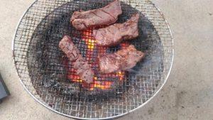 喜助の牛タンを炭火焼き2