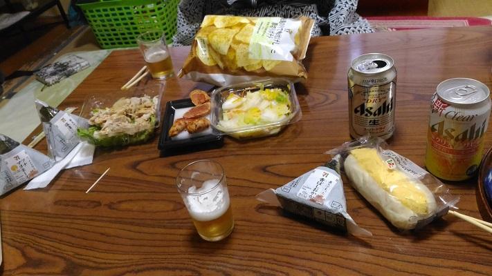 新五郎温泉での夕食