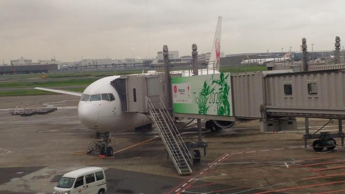 往路飛行機