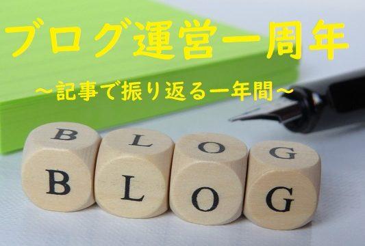 ブログ運営一周年~記事で振り返る一年間~