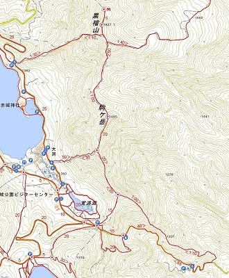 黒檜山の登山地図