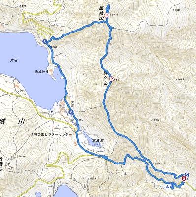 黒檜山実際の経路
