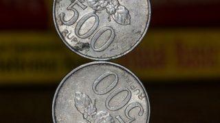 重ねたコイン