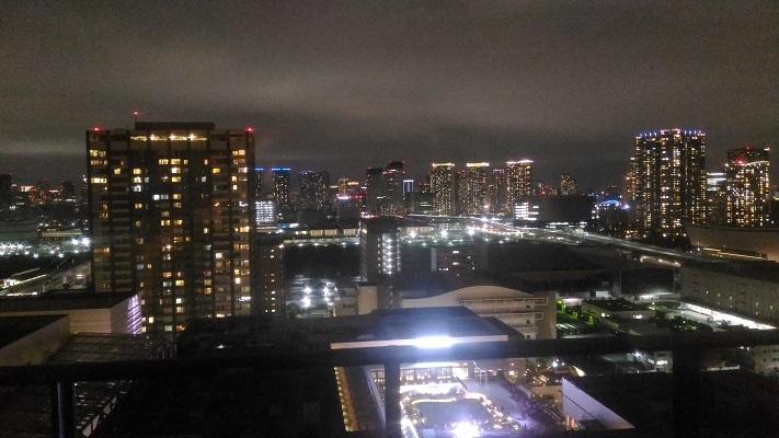パーティールームからの夜景