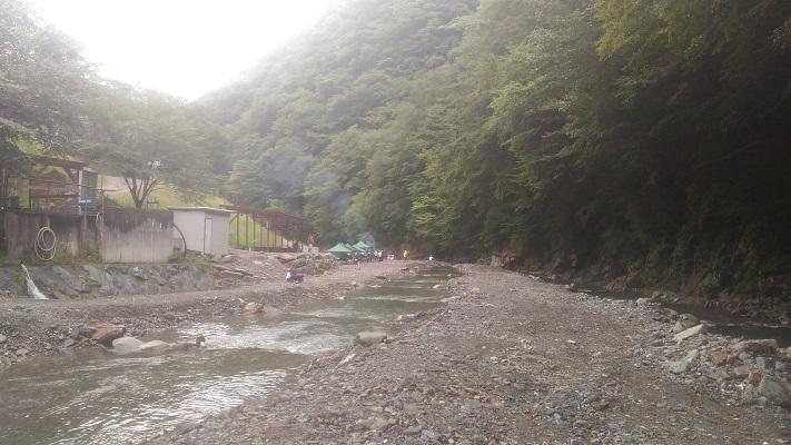中津川渓流釣り場の釣り場