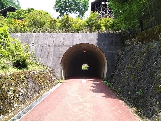 トンネルをくぐる