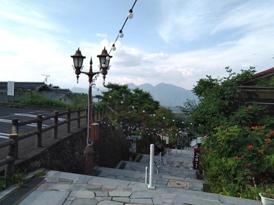石段街中腹からの景色